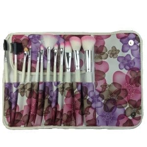 12pcs Makeup Brush Set with Pink Bag