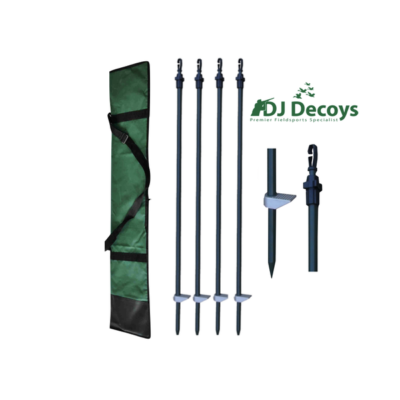 Twist lock hide poles set of 4 with bag